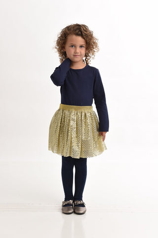ToobyDoo Girls Dress - Irina navy jersey cotton available at The Groovy Gator in Newport RI