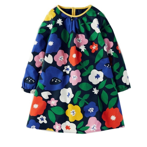 Cotton Spring Floral Dress for girls available at The Groovy Gator, Newport RI