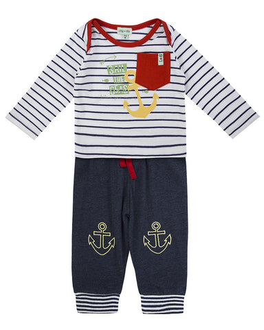 Lilly And Sid Baby Boy Anchor 2 piece set Lilly + Sid