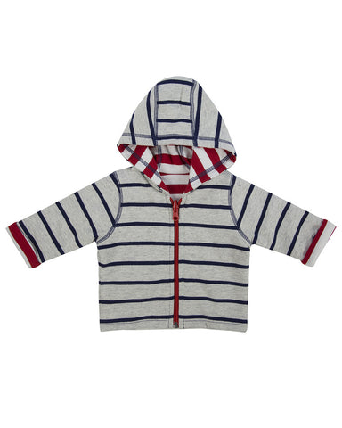 Lilly And Sid Lilly + Sid Baby Boy Reversible striped hoody