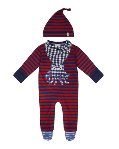 Lilly And Sid Baby Boy Octopus Stripe gift set Lilly + Sid
