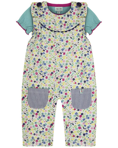 Lilly and Sid Baby Girl floral print playsuit Lilly + Sid