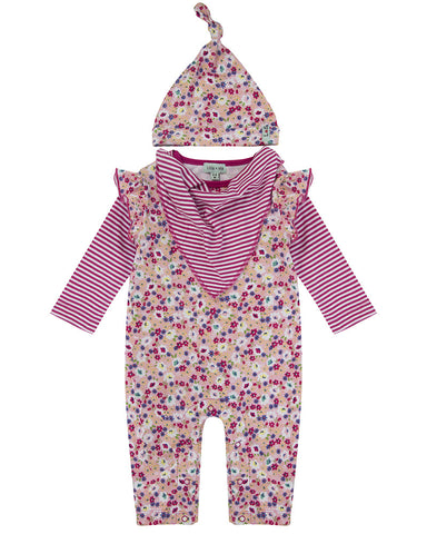 Lilly and Sid Baby Girl Playsuit gift set Lilly + Sid