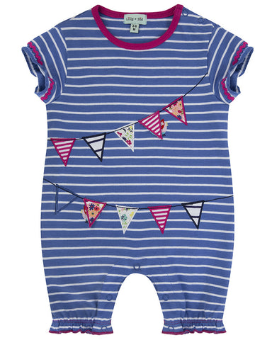 Lilly and Sid Baby Girl Nautical flag Playsuit Lilly + Sid