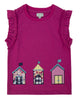 Lilly + Sid Girls Beach Hut Hem Applique Shirt at The Groovy Gator