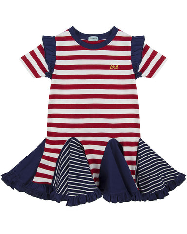 Lilly + Sid Girls Jersey Cotton Circle Insert Dress at The Groovy Gator