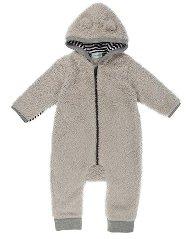 Lilly And Sid Baby Boy fleece bunny jumpsuit Lilly + Sid