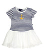 Toobydoo Anchor Stripe Girls Dress at The Groovy Gator