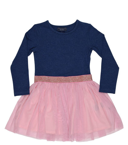 Toobydoo Girls Dress Blake Navy and pink available at The Groovy Gator in Newport, RI