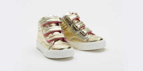 Morgan and Milo Gold Hightop Girls Sneaker