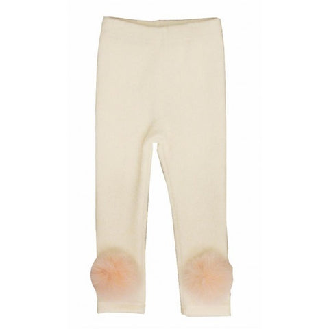 Pink Fox Pom Pom Leggings