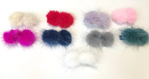 Mink Pom Pom Clip available at The Groovy gator, Newport RI