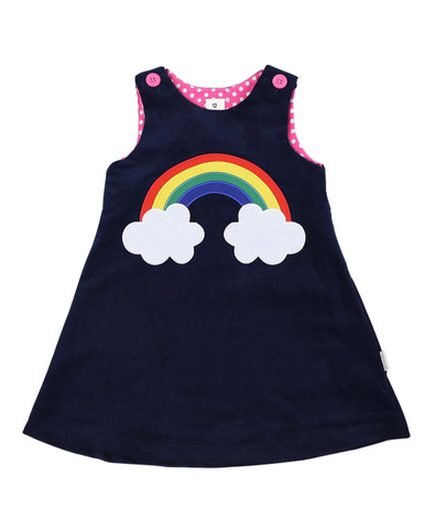 Rainbow Corduroy Dress