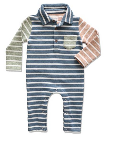 Me & Henry Polo Romper available at The Groovy Gator Newport, RI