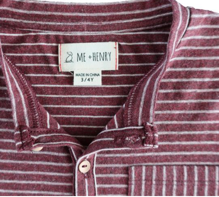 Me & Henry Burgundy Striped Henley