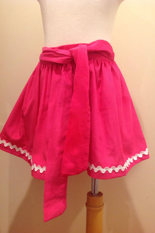 Caroline Skirt - Hot Pink Cord White Ric Rac