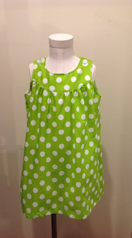 Ellie dress - Lime Dottie