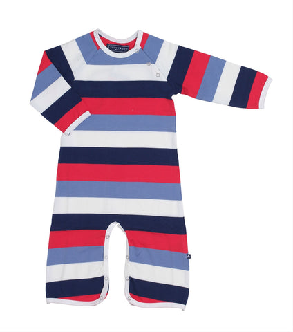 George - Navy Blue / Blue / Red / White Striped