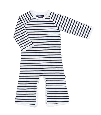 Tooby Super Players - Heather Gray / Light Blue Stripe
