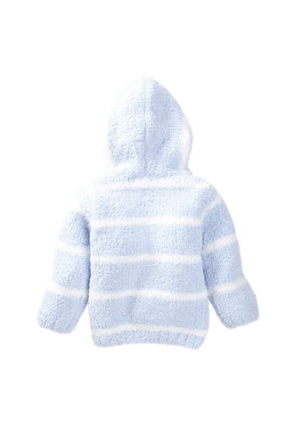 Chenille Hoodie - Light Blue / Ivory Stripe