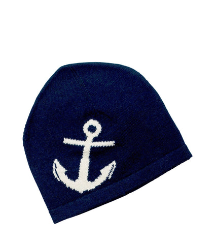Haddock / Navy Blue / White Anchor Hat