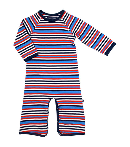 Zeke - Navy Blue / Red / White Stripe
