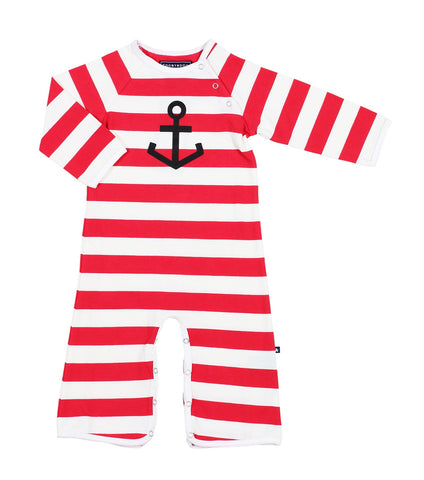 Lucky Anchor (Sailor) - Red/ White Stripe
