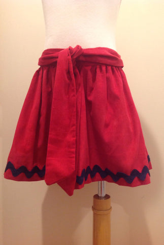 Caroline Skirt - Red Cord Navy Ric Rac