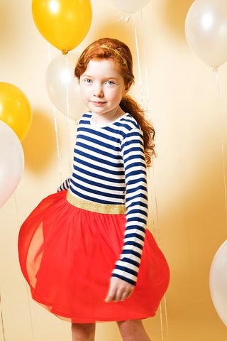 Toobydoo Josie Party Dress available in red at The Groovy Gator in Newport, RI