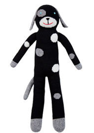 BlaBla Hand Knit Doll Licorice the spotted dog at The Groovy Gator