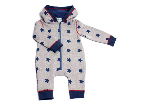 Lilly And Sid Baby Boy Stars Full Zip Hooded Sweat Suit Lilly + Sid