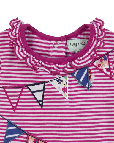 Lilly and Sid Baby Girl Nautical flag dress Lilly + Sid