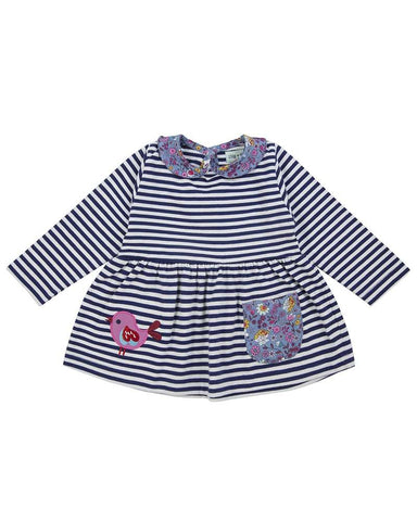 Lilly + Sid Baby Girl Vintage Collar Stripe dress available in Newport RI