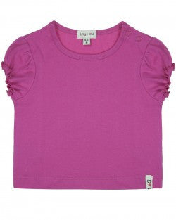 Lilly and Sid Baby Girl fuchsia layering tee Lilly + Sid