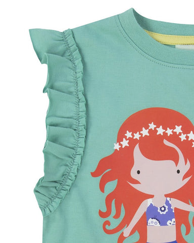 Lilly + Sid Girls Best Mermaid Friends Applique Shirt at The Groovy Gator