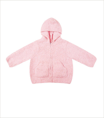 Chenille Hoodie - Light Pink