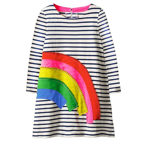 Cotton Rainbow Striped Tunic