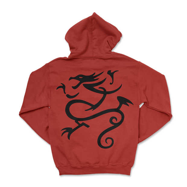 Queens Varsity Hoodie - Red / Black