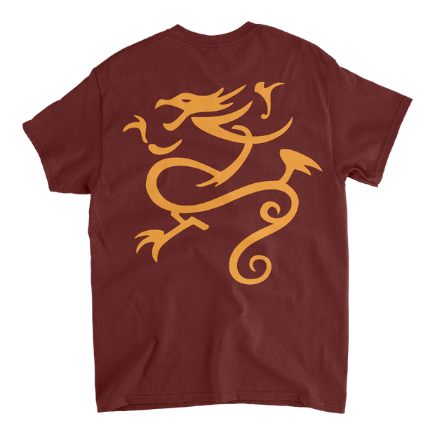 Queens Varsity T-shirt - Burgundy