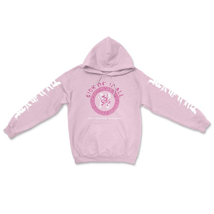 We stand alone hoodie - Baby Pink