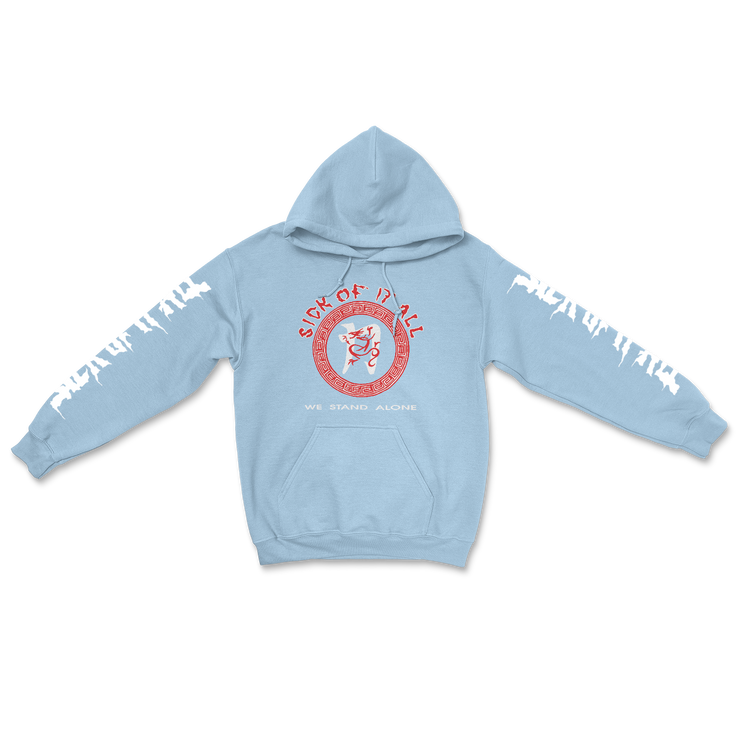 We stand alone hoodie - Baby blue
