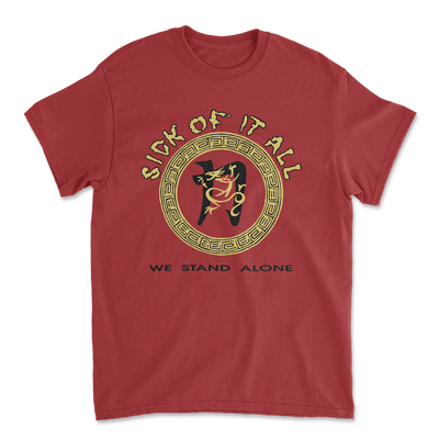 We stand alone t-shirt - Antique Cherry