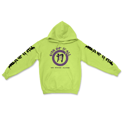 We stand alone hoodie - Safety green