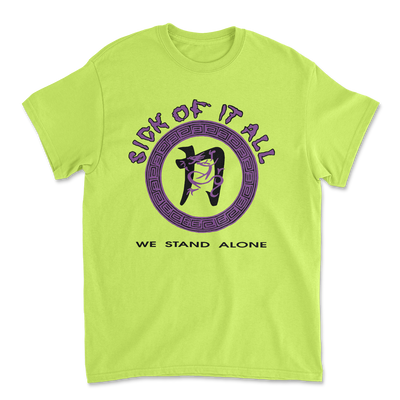 We stand alone t-shirt - Safety green