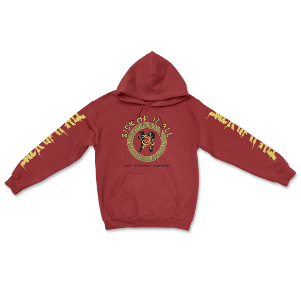 We stand alone hoodie - Antique Cherry