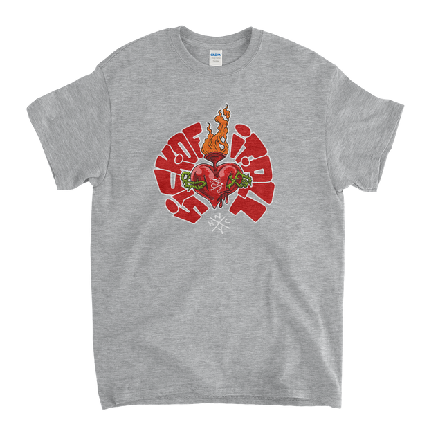 Sacred Heart  T-shirt Grey