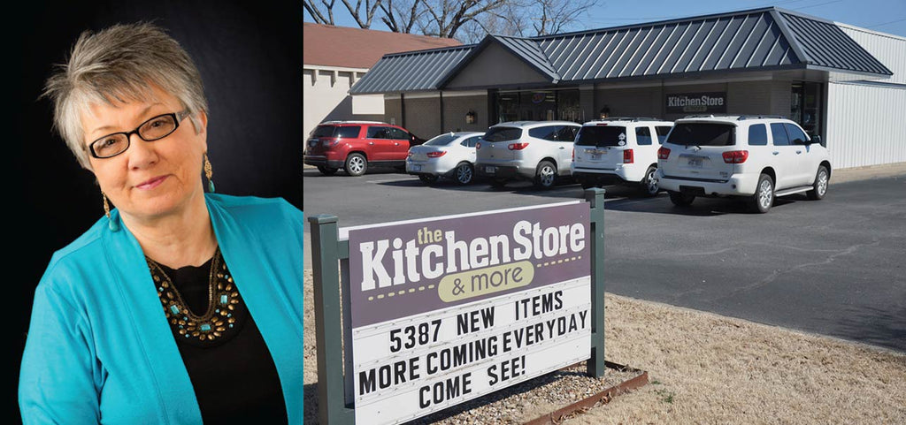 Kitchen Store owner Jeanne Smyers and the Kitchen Store building