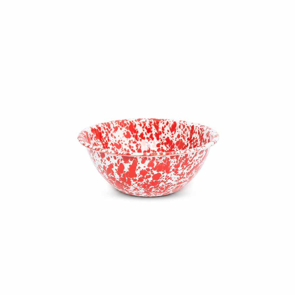 Crow Canyon - Enamelware Splatter 2-quart Small Serving Bowl