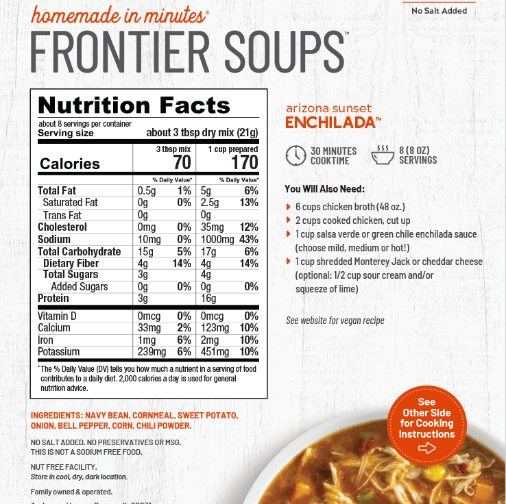 Frontier Soups - Arizona Sunset Enchilada Soup Mix