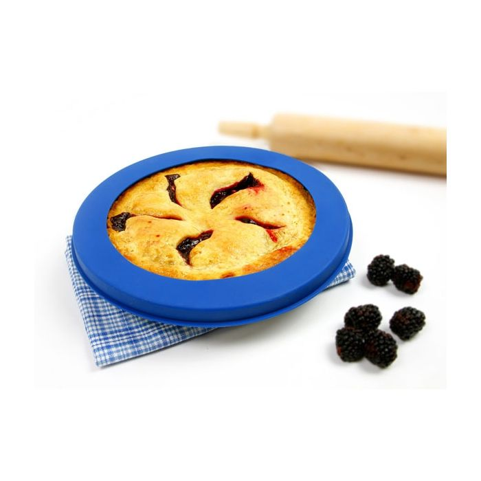 Norpro - Silicone Pie Crust Shield, Blue